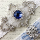 130x130 sq 1370220303582 frame with star bridal garter wedding garter set white lace garterqueen 3