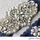 130x130 sq 1370220314958 wedding garter set stretch lace rhinestone applique garterqueen 2