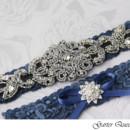 130x130 sq 1370220325984 wedding garter set stretch lace rhinestone applique garterqueen
