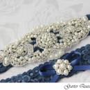 130x130 sq 1370220337225 wedding garter set stretch lace rhinestone applique garterqueen
