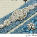 130x130 sq 1370220349367 wedding garter set blue lace rhinestone applique garter queen 1