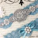 130x130 sq 1370220374092 bridal garter wedding garter set stretch lace crystal applique garterqueen 2
