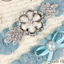 130x130 sq 1370220387128 bridal garter wedding garter set stretch lace crystal applique garterqueen 4
