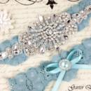 130x130 sq 1370220398861 bridal garter wedding garter set stretch lace crystal applique garterqueen 3