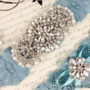 130x130 sq 1370220426240 bridal garter wedding garter set stretch lace crystal applique garterqueen 2