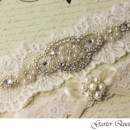 130x130 sq 1370220539188 bridal garter set rhinestone applique stretch lace garter queen 2