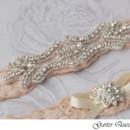 130x130 sq 1370220549378 wedding garter set stretch lace rhinestone applique garterqueen 2
