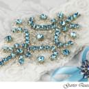 130x130 sq 1370220559998 bridal garter set stretch ivory lace blue rhinestone applique viogemini 2