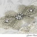 130x130 sq 1370220583279 wedding garter set stretch lace rhinestone applique garter queen 2