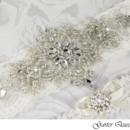 130x130 sq 1370220593607 wedding garter set stretch lace rhinestone applique garter queen 2