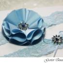 130x130 sq 1370220697948 wedding garter blue lace fabric flower rhinestones3