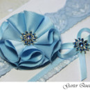 130x130 sq 1370220706892 bridal garter set something blue lace and flowers3