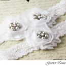 130x130 sq 1370220715812 wedding garter set white stretch lace bridal garter queen viogemini 2