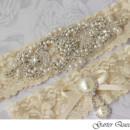 130x130 sq 1370220737061 wedding garter set stretch lace rhinestone applique garter queen 3