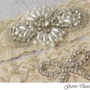 130x130 sq 1370220749176 wedding garter set stretch lace rhinestone applique garter queen 3