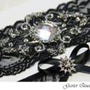 130x130 sq 1370220761026 bridal garter black lace rhinestones goth gothic4