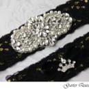 130x130 sq 1370220791129 wedding garter set gothic black lace rhinestone applique garter queen