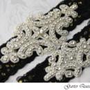 130x130 sq 1370220802965 wedding garter set gothic black lace rhinestone applique garter queen
