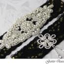 130x130 sq 1370220824968 wedding garter set gothic black lace rhinestone applique garter queen