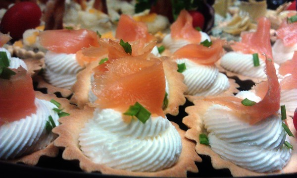 1498169986532 Smoked Salmon And Goat Cheese Tartlets Savannah wedding catering
