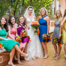 130x130 sq 1370316007452 bride with bridesmaids 2
