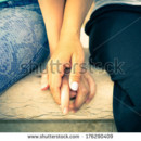 130x130 sq 1422046032787 stock photo girls holding hands 176290409