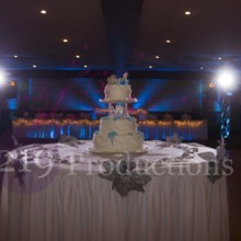 220x220 sq 1480641935481 chateau banquets wedding cake uplighting