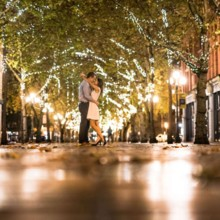 220x220 sq 1430936605641 couple kissing under lights at night in pioneer sq