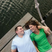 220x220 sq 1430936617544 engaged couple laughing on dock