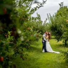 220x220 sq 1430936635447 outdoor wedding couple kissing in apple orchard