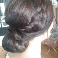 220x220 sq 1492012552599 braided updo3