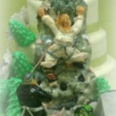Rock Climbing Wedding Cake with Fondant Bride and Groom.