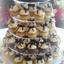 130x130 sq 1365609616518 cupcake wedding cake with black bows