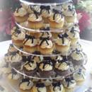 130x130 sq 1365609616518 cupcake wedding cake with black bows