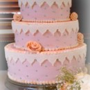 130x130 sq 1375820409645 flowers and lace fondant wedding cake