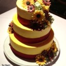 130x130 sq 1384181674001 autumn flowers wedding cak