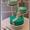 130x130 sq 1396797810900 blue spiral wedding cake with floating flower