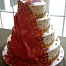 130x130 sq 1404062240155 fondant sari cake