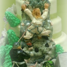 220x220 sq 1365110746371 rock climbing wedding cake