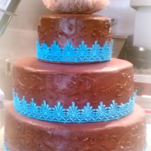220x220 sq 1365110932841 chocolate wedding cake