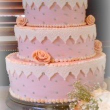 220x220 sq 1375820409645 flowers and lace fondant wedding cake