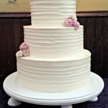 220x220 sq 1384183564389 buttercream wedding cake with crystalized rose