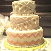 220x220 sq 1391456200261 ombre chevrons wedding cak