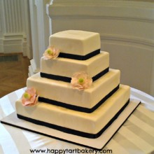 220x220 sq 1391456249720 rectangular magnolia wedding cak