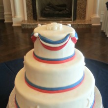 220x220 sq 1391456262768 red white and blue wedding cak