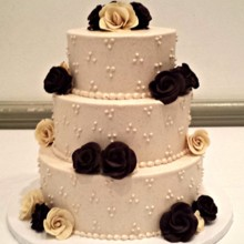 220x220 sq 1404062108491 buttercream wedding cake with modeling chocolate r