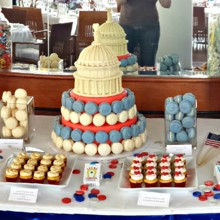 220x220 sq 1404062197479 dessert table red white and blue wedding