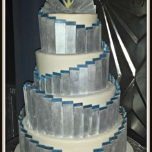 220x220 sq 1404062316220 silver and blue art deco cake