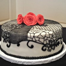 220x220 sq 1404062329763 single tiered flamenco cake