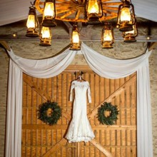220x220 sq 1473709072996 wedding dress on barn doors